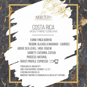 Mobstery Costa Rica Specialty Coffee – 100% arabica -200g